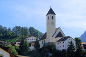 Reschen Kirche - Reschen church 01 — Stock Photo