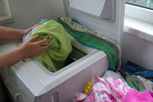 Wesche waschen - washing clothes 01 — Stock Photo
