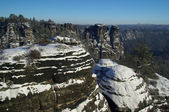 Bastei area rocks — Stock Photo