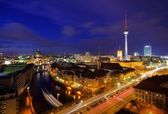 Berlin at night — Stock Photo