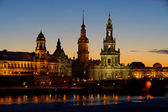 Dresden old town at night — Stock Photo