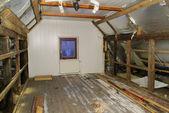 Roof truss reconstruct — Stock Photo