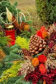 Cementerio de arreglo floral — Foto de Stock