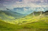 Hiking to mountain Furgler — Stock Photo