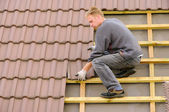 Tile roof covering — Stock Photo