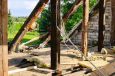 Roof truss demolish — Stock Photo