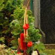 Floral arrangement cemetery - Stockfoto
