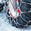 Stock Photo: Snow chain