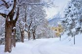 Seefeld castle in winter — Stock Photo