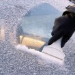 Ice scraping — Stock Photo