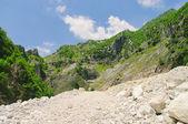 Carrara marble stone pit, Italy — Stock Photo