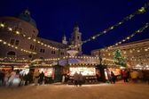 Salzburg christmas market, Austria — Stock Photo