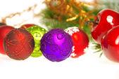 Christmas balls isolated — Stockfoto
