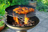 Grilling chicken — Stock Photo