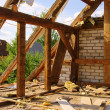 Dachstuhl abbrechen - roof truss demolish 04 — Stock Photo #19144759