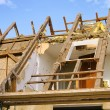 Dachstuhl abbrechen - roof truss demolish 11 — Stock Photo #19144785