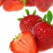 Erdbeere freigestellt - strawberry isolated 10 — Stock Photo