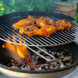 Stock Photo: Grilling chicken 30