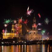 Dresden Fireworks 32 — Stock Photo