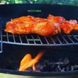 Stock Photo: Grilling chicken