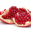 Stock Photo: Pomegranate on a white background