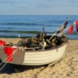 Fishing cutter on the beach — Stock Photo