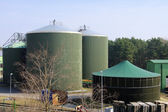 Biogas plant — Stock Photo