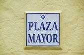 Signo de plaza mayor — Foto de Stock
