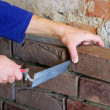 Lay a brick wall — Stock Photo
