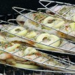 Stock Photo: Grillen Forelle - grilling trout 01
