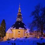 Seiffen church in winter — Stock Photo