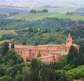 Monte Oliveto Maggiore - the monastery of the Catholic Order — Stock Photo