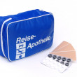 First aid travel kit — Stock Photo