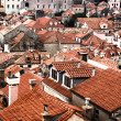 Stock Photo: Roofs of houses