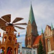 Schwerin christmas market   — Stock Photo