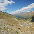Kauner valley glacier road  — Stock Photo