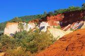 Rustel ocre rocks — Stock Photo