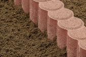 Concrete palisade — Stock Photo