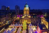 Berlin christmas market Gendarmenmarkt — Stock Photo