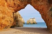 Algarve beach Dos Tres Irmaos — 图库照片