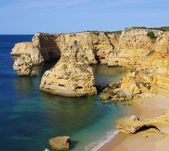 Algarve beach marinha — 图库照片