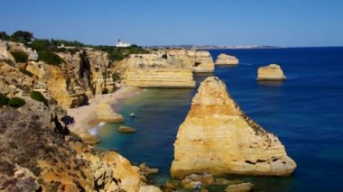 Algarve beach Marinha — Video Stock