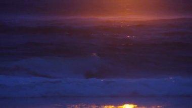 закат на море — Стоковое видео
