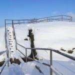 Snowy pass — Stock Photo