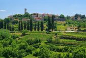 Oprtalj - a municipality in the central part of the Croatian peninsula of Istria — Stock Photo