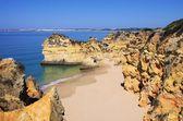 Algarve beach dos tres irmaos — Stok fotoğraf