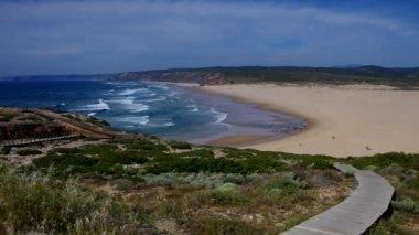 Atlantic beach Carrapateira — Stock video