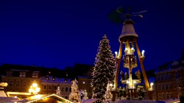 Annaberg-Buchholz christmas market  — Stock Video