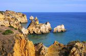 Algarve beach Dos Tres Irmaos — Stock Photo