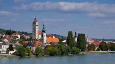 Krems and Stein on Danube — Stock Video